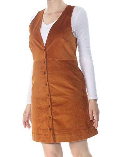 Free People Rolling Thunder Cord Mini Dress Cinnamon LG (Women's 12)