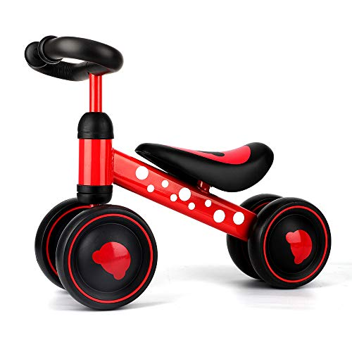 Baby Balance Bikes – Toddler Ride on Toys – Mini Kids Balance Bike for 1 2 3 Year Old Toddlers(Red)