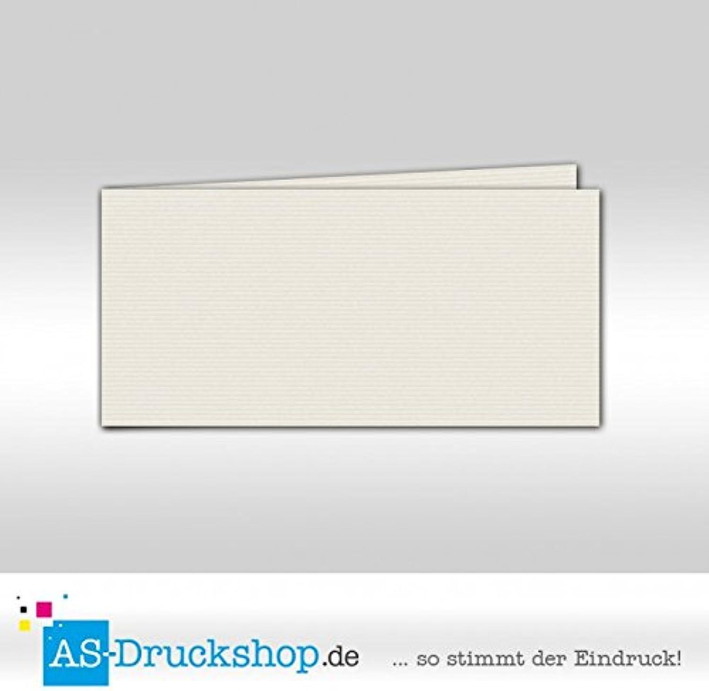 Faltkarte - Silbergrau 100 Stück DIN Lang quer B0794X5CYR | Ausgezeichnete Leistung