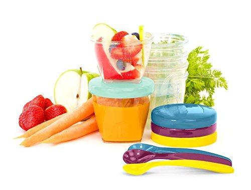 Babymoov Babybols Aufbewahrungsbehälter für Babynahrung – Multi-Set 15-teilig (3 x 120 ml + 3 x 180 ml + 6 x 250 ml + 3 flexible Löffel), hermetischer Drehverschluss - 2