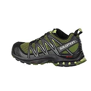 Salomon Men's XA Pro 3D Trail Running Shoes, Chive/Black/Beluga, 10