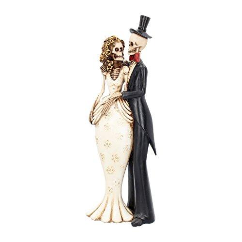 Gothic Fantasy Brautpaar Skelett Tortendeko Tischdeko Hochzeitspaar Wedding NN021