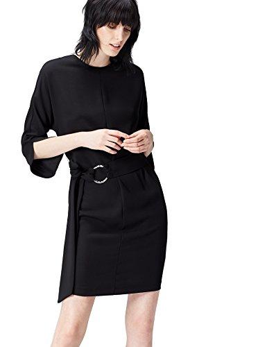find. FP00947.2.1 vestido fiesta mujer, Negro (Black), 38 (Talla del Fabricante:...