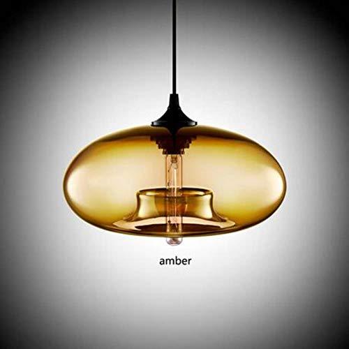 5151BuyWorld Lamp Modern Art Deco Hanging Kleurrijke glas E27 / E26 hanglamp met led-lichtsnoer voor restaurant woonkamer keuken topkwaliteit {}