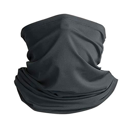 Thimmamma Schal Corona für Herren, 1 Dust-Proof Schwarz Schal Dünn Multifunktionale Schal Bandana im Sommer für Laufen Wandern