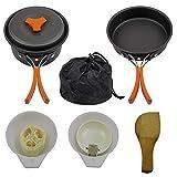 Utensilios De Cocina De Camping Kit De Picnic Utensilios De Cocina Conjunto De Campamento Sartenes Ollas Viajes con Mochila Caminatas Al Aire Libre De Cocina Kit (Naranja)