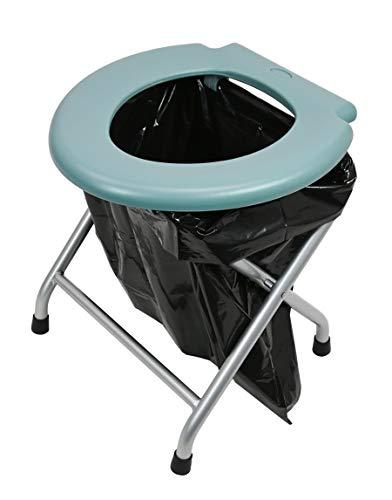 24ocean - Inodoro plegable (estructura de metal, color gris)