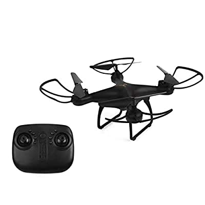 (Black)Mini drone foldable aircraft 4 Axis flying both Indoor and outdoor ultra stable safety headless mode drone remote control aircraft sport drone with colorful LED night light (No camera)
