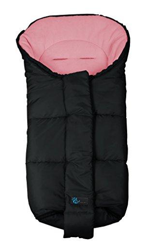 Altabebe AL2277-13  WinterFußsack Nordic Kollektion für Kinderwagen und Buggy (9–36 Monate), schwarz/rosa