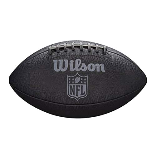 Wilson Unisex-Adult NFL JET BLACK OFFICIAL SIZE FB American Football, Uni