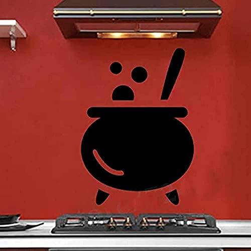 Pegatinas De Pared Calcomanías De Arte Creativas Extraíbles Calcomanías De Pared Autoadhesivas Eliminación Cocina Sopa Vajilla Pegatinas De Pared Talladas Cocina Restaurante Decoración 44X61Cm