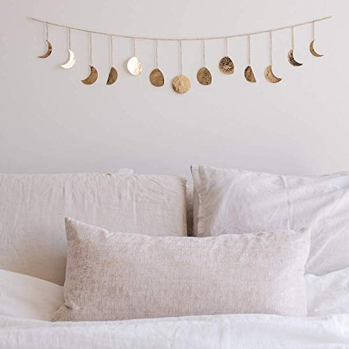 Moon Decor Wall Decorations | Handmade Hammered Detailing | Boho Accents Wall Decor | Moon Phases...