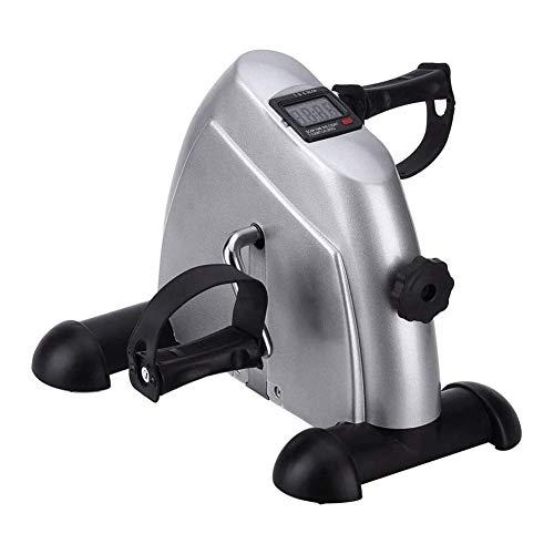 Mini stepper Deluxe Pedal ejercitador - Pedal ejercitador de brazos y piernas rodilla recuperación del ejercicio con el monitor LCD - for bienestar Rehab Equipo gimnasia for la tercera edad, personas