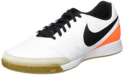 Nike Tiempo Genio II Leather IC Men's White/Black-Total Orange Shoes - 7