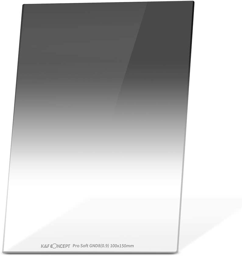 K/&F Concept Filtro Degraduado Duro GND8 100x150x2.0mm MRC Vidrio HD de Alem/án con Funda de Cuero para Cokin Z Holder