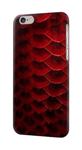 R2879 Red Arowana Fish Scale Case Cover For IPHONE 6 6S