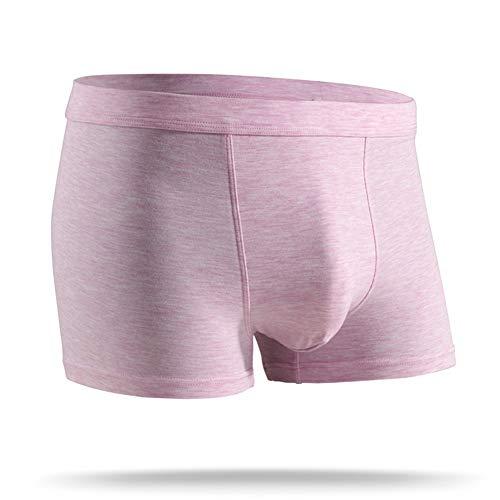 SZTB Tres bragas modales para hombre cargadas boxers ultrafinos ropa interior de cuatro esquinas ropa interior invisible bolsa de boxeador ropa interior desodorante de fibra súper suave y cómoda,03,XL