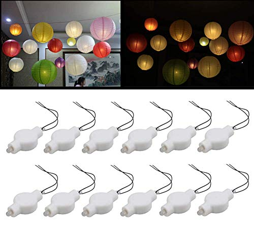 Jofan 60pcs Multicolor Mini LED Party Lights for Balloons Paper Lanterns Floral Party Decoration Waterproof and Submersible