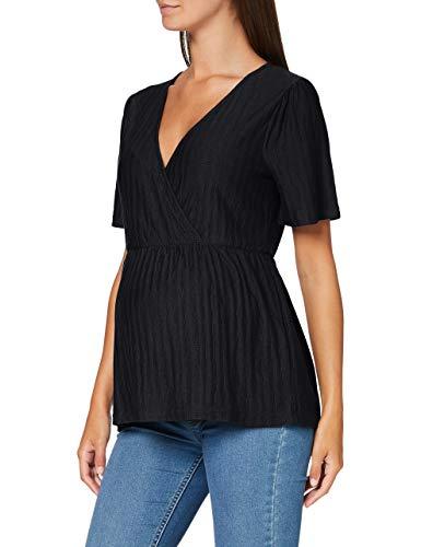 MAMALICIOUS MLKADI Tess 2/4 Jersey Top NF A. Camiseta sin Mangas, Negro, M para Mujer