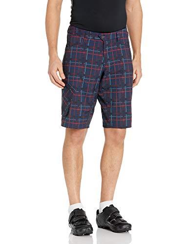 PEARL IZUMI Men's Canyon Plaid Shorts, Eclipse Blue Plaid, Small