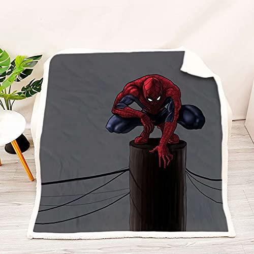 Spiderman Flanelldecke ist weich und warm, Zuhause, Bett, Sofadecke, geeignet für Campingausflug