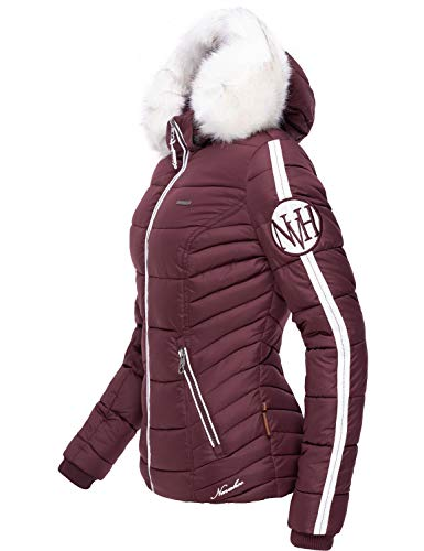 Navahoo dames winterjas gewatteerde jas met afneembare kunstbont Khingaa's 7 kleuren XS-XL