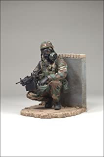 ARMY INFANTRY NBC / M.O.P.P. SUIT McFarlane's Military Series 6 Action Figure & Display Base