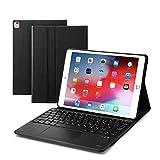 Ewin® 最新型 iPad 第8世代 iPad 10.2/10.5 キーボードケース JIS基準日本語配列 第7世代 2019モデル bluetoothキーボード ワイヤレス タッチパッド搭載 ロック可能 脱着式 2台のiOSデバイス切り替え可能 ipad air3 ipad pro スマホ アイパッド 全面保護 軽量 オートスリープ keyboard スタンド機能付き 一年間安心保証付き 日本語説明書 ブラック