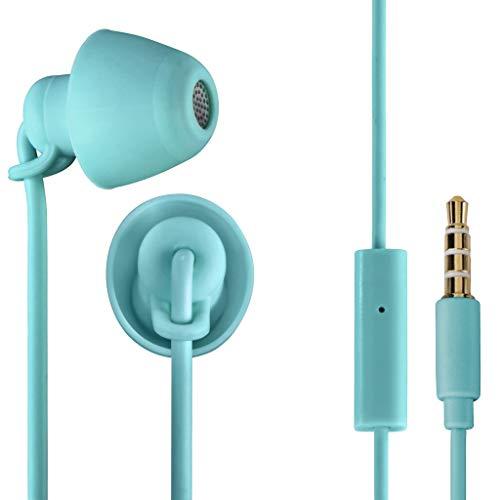 THOMSON 00132635 - Auriculares de Cable con Micrófono In-Ear, Color Turquesa