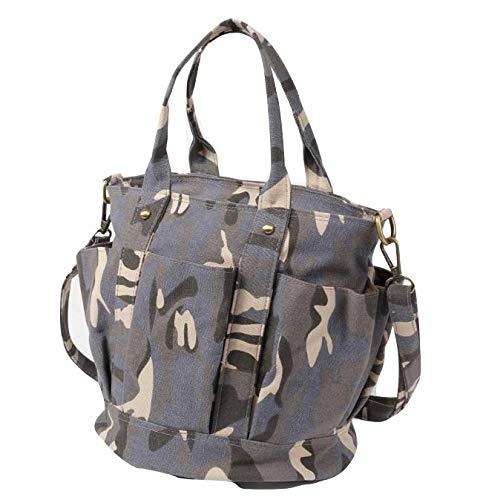 (SOWAKA) 帆布 トートバッグ レディース キャンバス 2way ファスナー 付き 自立 バッグ (ホワイト)