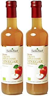 Earth's Finest Organic Apple Cider Vinegar with Mother 500 ml Pack of 2