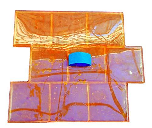3D Pflasterstein Muster Deko Beton Zement Abdruck Matte Stempel 9 Steine