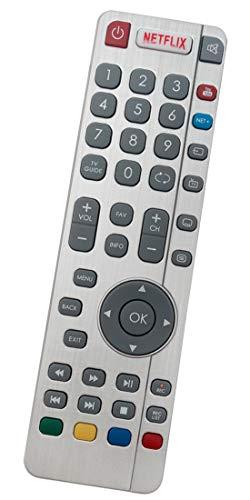 ALLIMITY DR-0337 Fernbedienung Ersatz für Sharp Aquos TV LC-40CFG6242E LC-40CFG6351K LC-55CUF8472ES LC-55CUG8461KS LC-65CUG8052K LC-49CUG8062K LC-49CUG8372KS LC-50CFG6001K