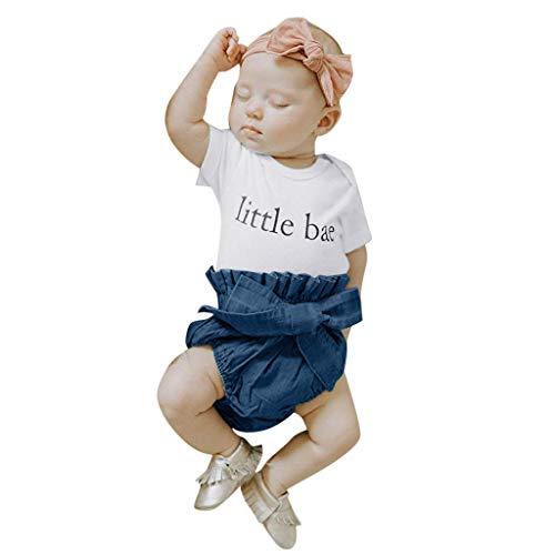 Moneycom - Juego de ropa para bebé recién nacido, diseño de letras de tul para ceremonias, color blanco blanco 18-24 Meses
