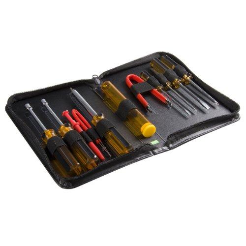 Startech CTK200 - Set de Reparación Herramientas de Ordenadores, 11 Piezas con Estuche, Negro