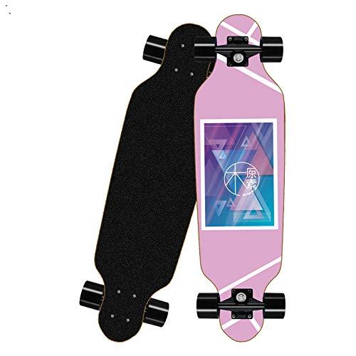Asdfax Skateboard débutant Patineta Completa para Principiantes, patineta de Arce de 7 Capas, Adecuada para Principiantes de Adolescentes, niños y niñas-UN