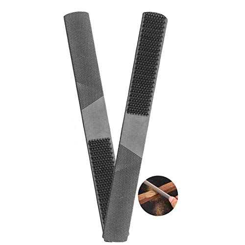 2 Pcs 4 in 1 Wood Rasp File, High Carbon Steel Hand File, Round Rasp, Half Round Flat and Needle Files, Premium Wood File Set for Sharping Wood and Metal Tools