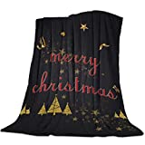 Yaxinduobao Ultra Soft Flannel Fleece Bed Manta Merry Christmas Christmas Fantastic Fir Tree Throw Manta All Season Warm Fuzzy Light Weight Cozy Plush Mantas for Living Room/Bedroom