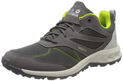 Jack Wolfskin Herren Woodland Vent Low M Cross-Trainer, Grau (Grey/Lime 6128), 42 EU