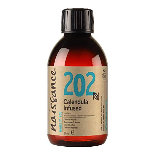 Naissance Olio Infuso di Calendula 250ml - Puro, Naturale, Infuso in Olio di Semi di Girasole - Nutriente per la Pelle, Ideale per Formulazioni Cosmetiche