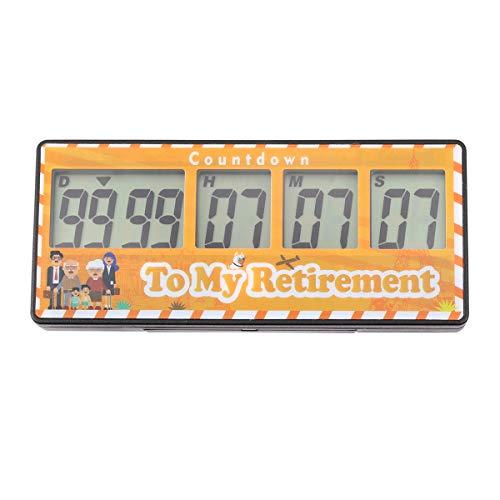 9999 Tage - Digitaler Countdown-Zähler für Reisen, Ruhestand, Hochzeit, Weihnachten, Geburt, Klassenzimmer, Labor - magnetisch Ruhestand
