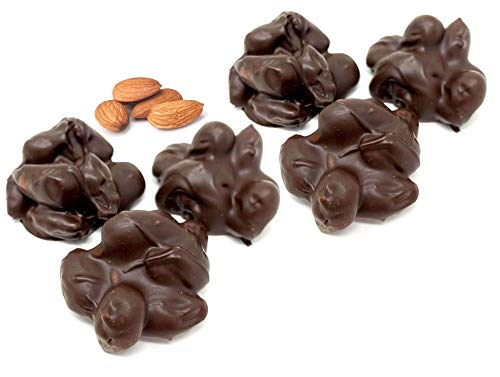 Andy Anand Sugar Free Old Fashioned Almond Cluster of Dark Chocolate Gift Boxed & Greeting Card Delicious-Crunchy-Divine Birthday Anniversary Christmas Holiday (1 lbs)