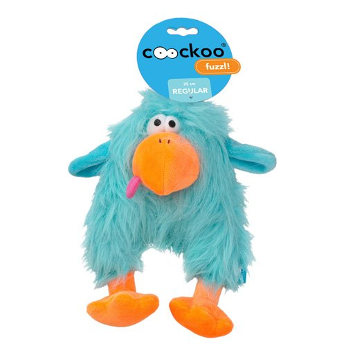 COOCKOO Hundespielzeug Fuzzl Long Hair Plush, Blue