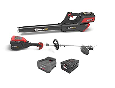 Snapper XD 82V MAX Cordless Electric Clean Up Bundle with String Trimmer, Leaf Blower, (1) 2.0 Battery and (1) Rapid Charger