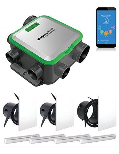 ALDES Kit easyhome Pureair Compatto Connect con 3bocche Colorline + Ingressi di aria–VMC semplice flusso–400m³/h