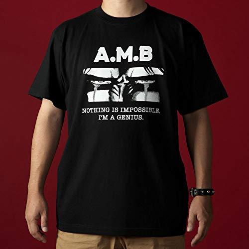 北斗の拳/アミバの涙イラストTシャツ(アミバ 俺は天才だ)/ブラック (M)