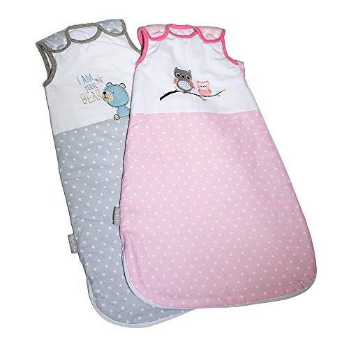 Nalaïa - Premium Babyschlafsack aus OEKO-TEX® 100 zertifizierter Bio Baumwolle für sicheren und gesunden Babyschlaf von deutschem Unternehmen - ganzjährig 2,5TOG - Größe 56/74 (1 bis 8 Monate)