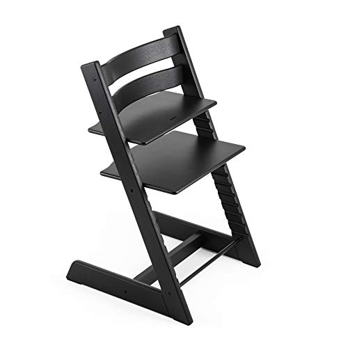 Tripp Trapp Chair from Stokke, Oak Black - Adjustable, Convertible Chair for Toddlers, Children & Adults - Comfortable & Ergonomic - Made with Oak Wood