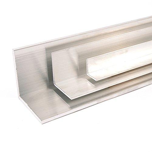 Aluminium Winkel Winkelprofil Aluprofil gleichschenklig, Oberfläche blank gezogen, Abmessung 60 x 60 x 5 Länge 1000 mm