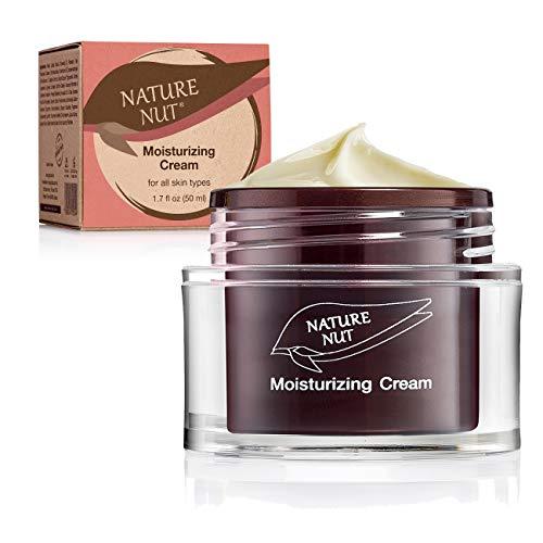 Nature Nut Moisturizing Face Cream  Vegan rich formula based on Hyaluronic Acid Jojoba Oil amp Chia Seeds clinically tested for sensitive skin rich in VitaminE Omega3 6 amp 9